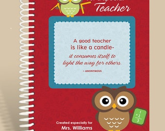Teacher  Gift / Personalized Gift for Teacher / Personalized Notebook /