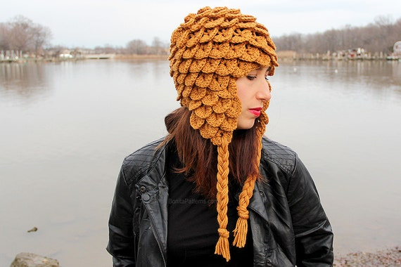 Crochet pattern crocodile stitch earflap hat adult size crochet pattern crocodile stitch earflap hat adult size permission to sell finished product from bonitapatterns on etsy studio dt1010fo