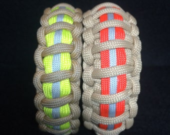 Paracord Survival Bracelets - Fire Gear Themed - Custom Made