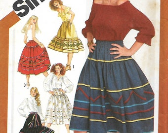 Simplicity 5292 Misses Pull-On Trimmed Skirts In two Lengths, Sewing Pattern, Size 6-20, UNCUT