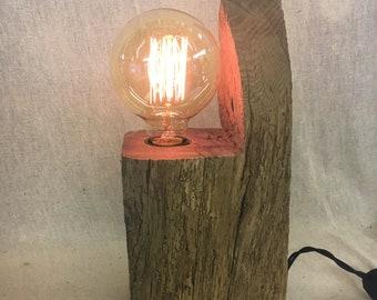 Oak Lamp with Eddison light bulb