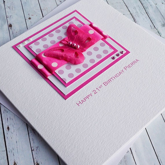 Handmade 21st Birthday Card For Daughter Sister Niece