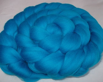 Super soft merino felting wool, merino spinning fiber, roving wool, wool roving, 20 mic, dolls hair, dreads, unspun wool, TEAL, 3.5oz, 100g