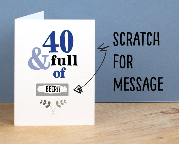 40th birthday card 40 and full of rude sarcastic humorous 40th like this item bookmarktalkfo Choice Image
