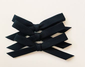 Hand tied bow [ black ]