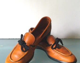 Amalfi Rangoni  Perfect Moc Loafers Made in Italy Size 8N