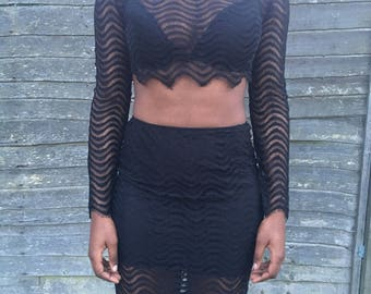 Black two piece
