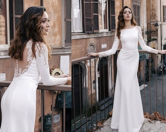 Beautiful Wedding Dresses Lace Long Sleeve Bridal Gown EVORA