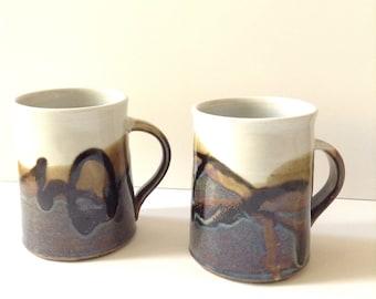 Set of two Vintage Stoneware Mugs.