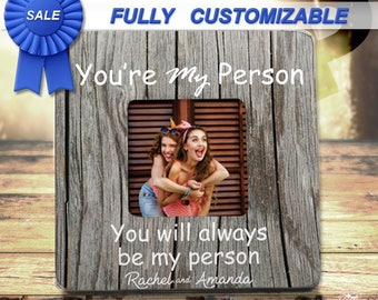 SALE! Gifts For Her Under 15 FRIEND Moving Away Gift Custom Picture Frame Best Friend Gift Birthday Create Your Own Gifts For Friends
