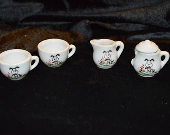 Vintage Miniature Tea Set