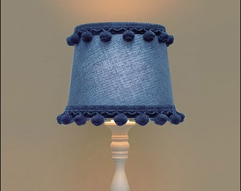 Lamp Shade: Two Tone Boudoir Lamp Shade, Blue
