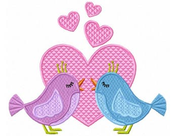 Love Birds...Instant Download... Pattern Fill Machine Embroidery DESIGN NO. 863