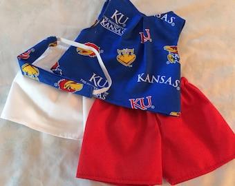 KU 3 piece shorts outfit