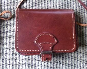 Genuine Leather Belt Bag / Brown Leather Crossbody bag / Leather Hip Belt Bag / made in Greece