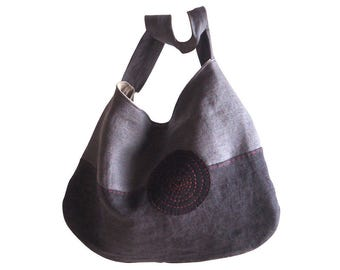 "Linen Bag "" Lina"" anthracite, Shoulderbag, Shopper"