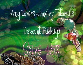 Learn How To Wire Wrap, Ring Lovers Wire 10 Jewelry Patterns Special, Save 45.00 Dollars, Instant Download, DIY Ring Patterns, Instructions