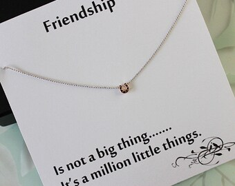 Rose Gold Tiny Horse Shoe Necklace, Rose Gold Pendant, Friendship Necklace, Jewelry gift for Sister, best friend gift