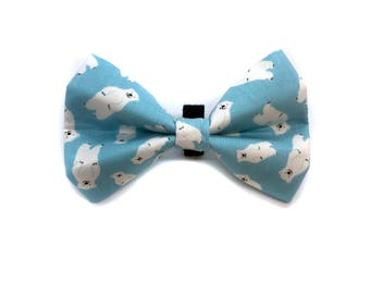 Bow Tie for Dog Collar  Polar Bear