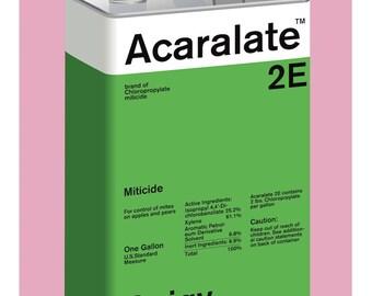 Geigy Acaralate 2E Metal Tin - Green - fine art giclée print