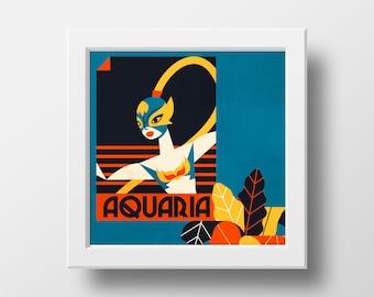 Aquaria - Lucha libre Print