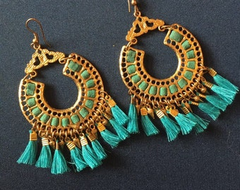 Tassle chandelier  earrings