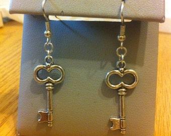 Assorted key earrings