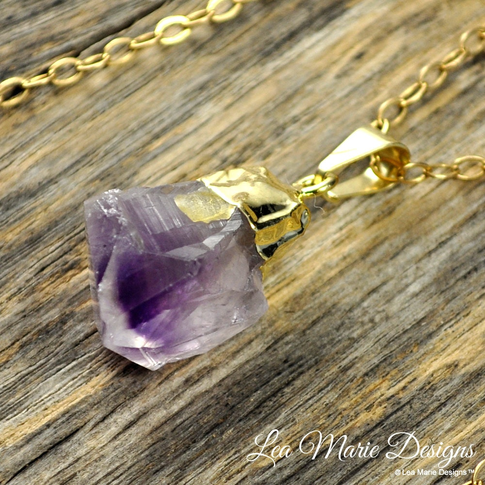 amethysts raw pin and amethyst necklace pendant
