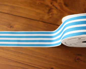 Striped Grosgrain Ribbon ~ Stampin Up! Pacific Point ~ 1 meter