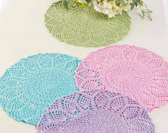 Crochet Pattern: PINEAPPLES TABLE MATS. Instant download
