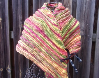 """Human"" wool woman shawl"