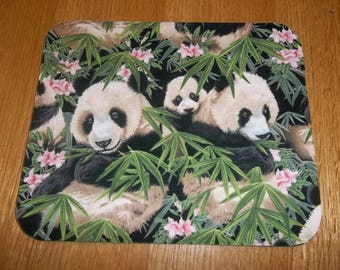 Panda Mouse Pad, Baby Panda's, Handmade, Gift, Office Decor, Desk Accessory, Rectangle, Mouse Pads, MousePad, Computer Mouse Pad, Mat