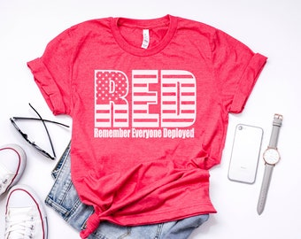 Remember Everyone Deployed Tee, Red Friday Tee, Deployment Shirts, Military Spouse Gifts, Gifts For Women, Gifts For Men, Deployment Tee