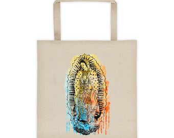 Virgen de Guadalupe Tote, Virgin Mary Bag, Canvas Tote