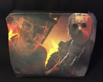 freddy and jason zipper pouch