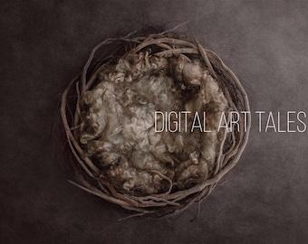 Digital Prop/Backdrop Newborn Woodland Nest