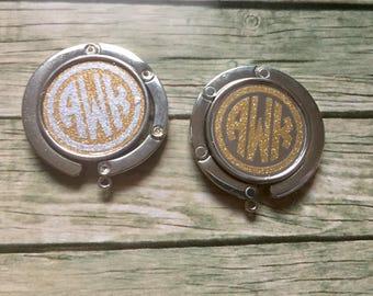 Monogram Purse Hook, Purse Hook, Bag Hook, Personalized Hook, Monogram Gift, Monogrammed, Mother's Day Gift, Purse Hanger, Bag Hanger