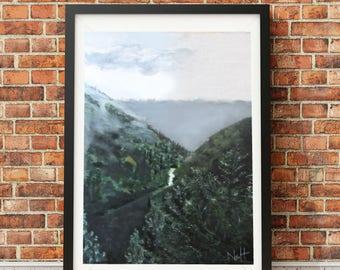 Perfect view - Giclée Print - Misty mountains, forest, nature, landscape, summer