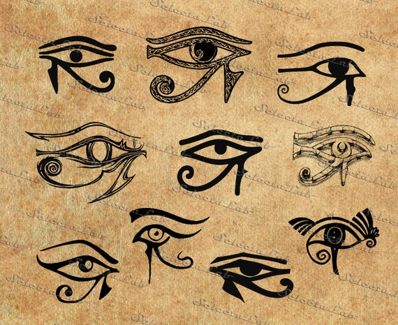 Digital SVG PNG Eye Of Horus Wadjet Whole One All Seeing Ancient Egypt Religion Clipart Vector Silhouette Instant Download From AramisLab On