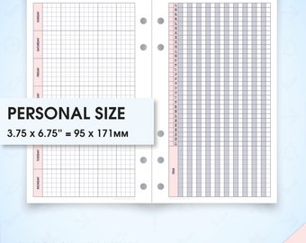 Monthly planner filofax personal size inserts undated printable mo1p (monthly calendar, monthly inserts, monthly calendar planner)