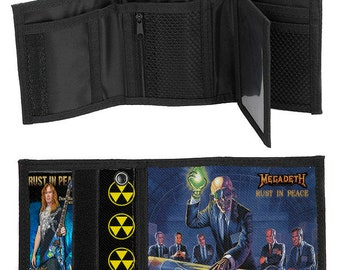 Megadeth - Rust In Peace Premium Trifold Wallet with Keychain