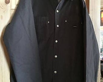 Walls work wear Sherpa lined dark brown canvas snaps Jacket Coat size L