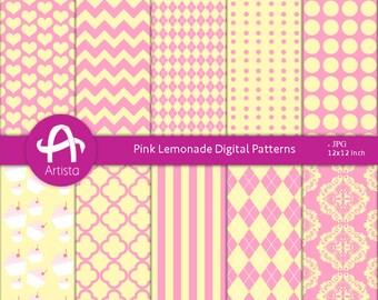 Instant Download PinkLemonade Patterns Digi Downloads Paper Printable
