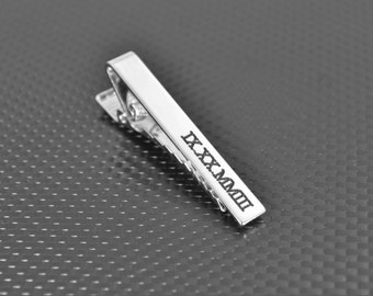 Anniversary Gift, Custom Tie Bar, Anniversary Gift for Him, Personalized Tie Bar, Tie Bar Clip, Custom Men's Gift, Personalized Gift for him