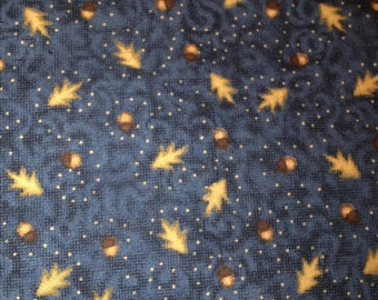 Acorn Angel Lodge Acorns on Navy 100% Cotton Fabric Fat Quarter