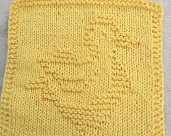 Yellow Duckie Cotton Dish Cloth