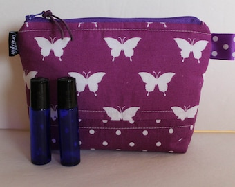 Essential Oil Bag Essential Oil Case Essential Oil Storage Holds 8+ Bottles 5ML/15ML/Roller Bottles Cosmetic Bag Medium Size Oil Bag