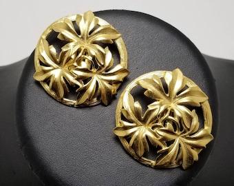 TRIFARI Brushed Gold Leaf Earrings