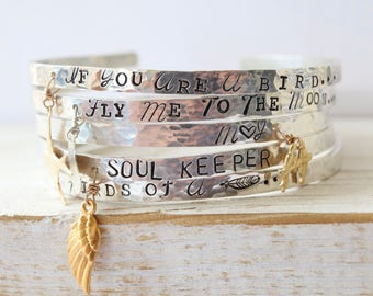 Inspirational Bracelets/ Sentimental Bracelets/ Gifts for Mom/ Secret Message Bracelets/ Cuff Inspirational Bracelets/ Gifts for Mom/ Gifts