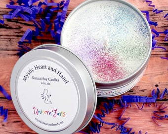 Unicorn Farts Scented Natural Soy Candle - 4 ounce